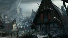 viking village concept art - Google Search