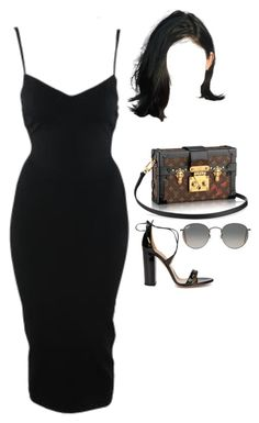 by nytown on Polyvore featuring polyvore fashion style Alaïa Aquazzura Ray-Ban Louis Vuitton clothing