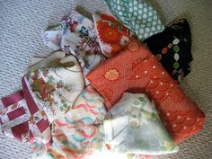 lots of fabric scraps for your art project...
