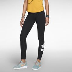 NIKE FUTURA LEG-A-SEE WOMEN'S LEGGINGS $45 The Nike Futura Leg-A-See Women's Leggings are made with a stretch cotton blend for a comfortable, figure-flattering fit, while screen prints offer an athletic look.
