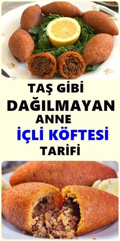 Making the meatballs has never been easier. How to make this delicious kibbeh? Full of details and more . Meat Recipes, Salad Recipes, Snack Recipes, Wie Macht Man, Turkish Recipes, Snacks, Mac And Cheese, Tea Time, Pasta