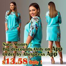 3 colores 2016 de gran tamaño 6XL mujeres se visten impreso Floral vestido recto…