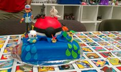 The cake I made for my son's Pokemon birthday party.