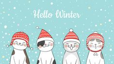Find Draw Illustration Banner Cute Cat Snow stock images in HD and millions of other royalty-free stock photos, illustrations and vectors in the Shutterstock collection. Hygge Christmas, Christmas Towels, Christmas Art, Christmas Birthday, Christmas Decorations, Christmas Illustration, Illustration Art, Banner Drawing, Merry Christmas Ya Filthy Animal
