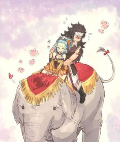 Fairy Tail - Gajeel and Levy Gale Fairy Tail, Anime Fairy Tail, Fairy Tail Guild, Fairy Tail Ships, Fairy Tales, Fairytail, Nalu, Fairy Tail Fanfiction, Gajeel Et Levy