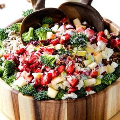 Broccoli Salad with Strawberries and Avocados