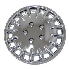TuningPros WSC023C15 Chrome Hubcaps Wheel Skin Cover 15Inches Silver Set of 4 * Want to know more, click on the image.