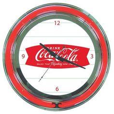 Trademark Global 14 in. Coca-Cola Refreshing Feeling Neon Wall Clock-coke-1400-v8-S - The Home Depot