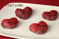 Coeurs de fraises enrobées de chocolat