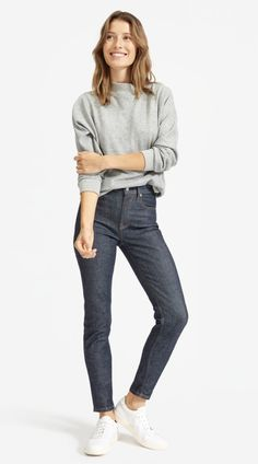 Shop Everlane for our collection of women's Japanese denim jackets, skirts shorts, and jeans in styles including boyfriend jeans, high rise, and skinny. High Jeans, Black Jeans, Orange Jeans, Polka Dot Jeans, Japanese Denim, Denim Shop, Best Jeans, Boyfriend Jeans, Jeans Size