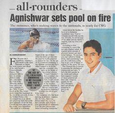 Agnishwar Swimmer sets swimming areana on  fire @ DC