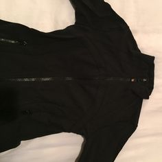 Lululemon black track jacket This track jacket has been worn but in good condition lululemon athletica Jackets & Coats