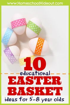 Such great educational Easter basket ideas! I am in LOVE! No more junk to fill our baskets!