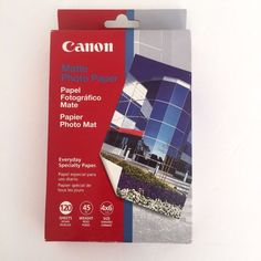Canon Matte Photo Paper 4x6 inch 120 Sheets 108 ISO New In Box  #Canon