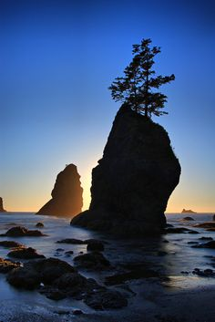 Sunset at Ruby Beach in Olympic National Park... One of my favorite places.