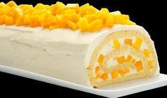 Pastel de rollo de mango