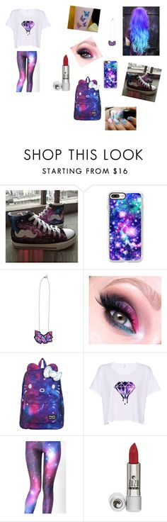 """""""Galaxy Friday!"""" by ivieoww ❤ liked on Polyvore featuring HVBAO, Casetify, SANRIO, WithChic and ZuZu Luxe"""