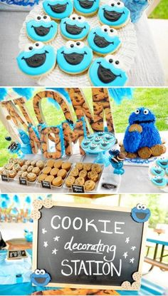 Cookie Monster/Seaseme Street party.