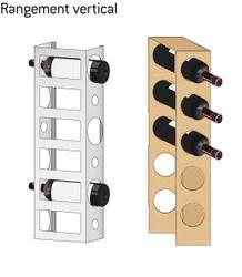 rangement vertical bouteille venus et