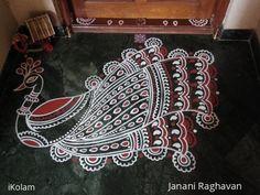 Rangoli Designs Peacock, Simple Rangoli Designs Images, Rangoli Kolam Designs, Colorful Rangoli Designs, Beautiful Rangoli Designs, Colour Rangoli, Alpona Design, Padi Kolam, Peacocks