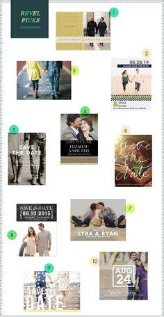 REVEL: Photo Save The Dates love #9! So cute..
