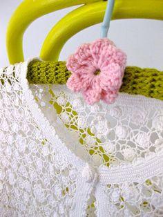 crochet hangers. cute!  #matildajaneclothing  #MJCdreamcloset