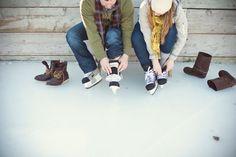Cute winter engagement photo shoot