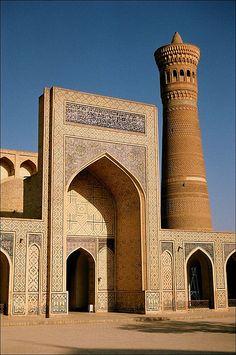Kalon Mosque & Minaret, detail found in Islamic architecture Mosque Architecture, Religious Architecture, Ancient Architecture, Beautiful Architecture, Art And Architecture, Islamic World, Islamic Art, Brick Cladding, Brickwork