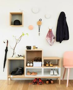 Stacked shelving system for Muuto/ shoes storage