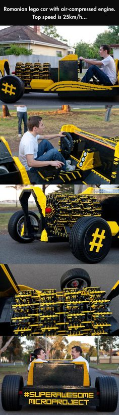 Working car made of Legos