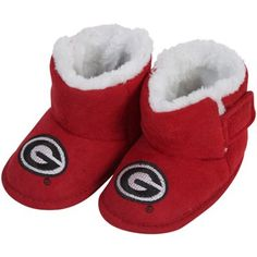 Georgia Bulldogs Infant Red Mascot Bootie Slippers