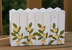 Picket Fence Card Holder Box