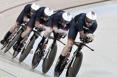 Cycling Track Men´s Team Pursuit olympics 2016. Storbritannien vann herrarnas lagförföljelse, silver Australien, brons Danmark.