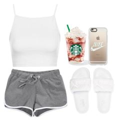 A fashion look from February 2017 featuring white shirt, short shorts and embroidered shoes. Browse and shop related looks. Cute Lazy Outfits, Swag Outfits For Girls, Chill Outfits, Sporty Outfits, Summer Outfits, Dope Fashion, Fashion Killa, Accesorios Casual, Pajamas