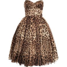 Hello baby....Dolce  Gabbana Strapless leopard-print dress (£3,875). It's gorgeous I love a bit of Leopard! Think Hubby will have to save his pennies and take me somewhere special to wear this...