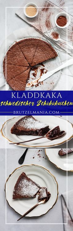 schwedischer Schokoladenkuchen-Kladdkaka