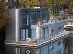 Shape of a spam can?...Hamburg Germany houseboat, photo by...?