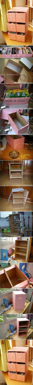 DIY - diyjoy Lindo gaveteiro feito de caixas de sapatos passo a passo