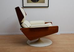 Mid Century Modern Lounge Chair with Matching Ottoman by AMBIANIC