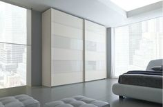 Home Improvement, Stylish and Modern: Sliding Closet Doors for Bedrooms: Cool White Of Two Types Panel In Sliding Closet Doors For Bedrooms Interior Design Living Room, Living Room Decor, Bedroom Decor, Sliding Wardrobe Designs, Sliding Closet Doors, Home Improvement Projects, Kitchen Decor, Furniture, Home Decor