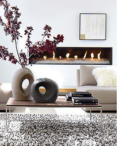 Material Mix in Living Room   Crate and Barrel