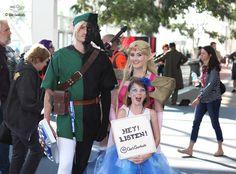 Half Shadow Link, Zelda and Navi family cosplay at Denver Comic Con.