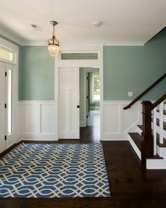 Tilley custom home, Wilmington. Plantation Building Corp.  Love the Dark Wood with White Trim.