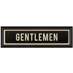 Spicher and Company 'Gentlemen' Vintage Look Sign Artwork