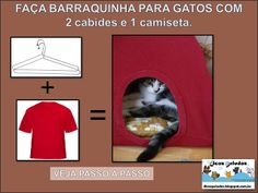2 CABIDES + 1 CAMISETA = BARRACA PARA GATOS