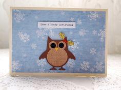 Handmade Owl Christmas Card. Hooty Christmas. £2.75, via Etsy.