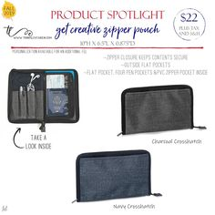 Fall 2019 – Get Creative Zipper Pouch – Business İdeas Thirty One Uses, Thirty One Fall, Thirty One Party, Thirty One Gifts, Thirty One Catalog, Top Business Ideas, Thirty One Thermal, Thirty One Business, Thirty One Consultant