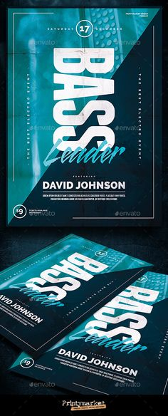 Electro Summer Flyer\/Poster Electro music, Print fonts and Font logo - electro flyer