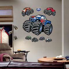 Perfect Stickers! For My Boyu0027s Bedroom, He Will Love Monster Trucks, Race Cars.