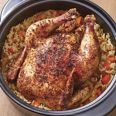 One-Pot Chicken Dinner - Made with either rice or potatoes! #Luvz2cook4u www.pamperedchef.biz/crystaldawn